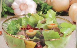_салат с фасолью и мясом