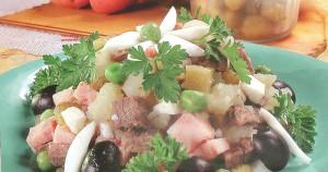 _мясной салат с говядиной