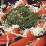 _салат из помидоров с сыром