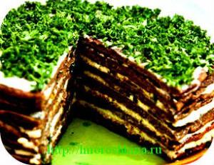 _торт из печени
