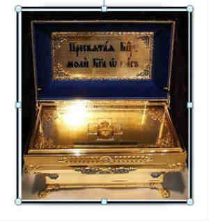 Сретенский храм, ковчег Покрова Пресвятой Богородицы