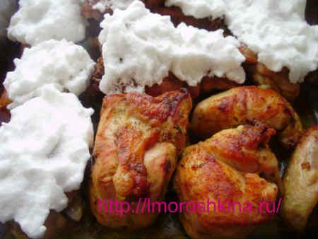 "Курица под ""снегом"""