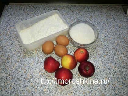 """Рецепт яблочного пирога """"шарлотка""""_продукты"""