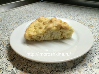 """Рецепт яблочного пирога """"шарлотка""""_готовое блюдо"""