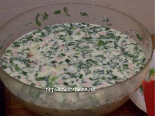Как готовить окрошку_на кефире