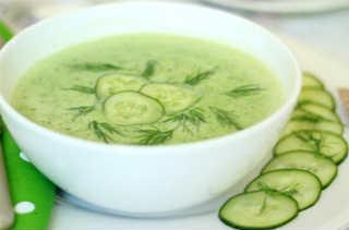 Холодные супы на лето_ суп с йогуртом и огурцами