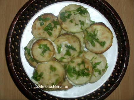 Жареные кабачки с чесноком и майонезом_закуска