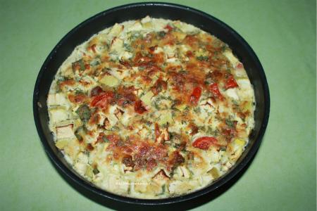 Запеченные кабачки с помидорами и сыром_ ставим для запекания