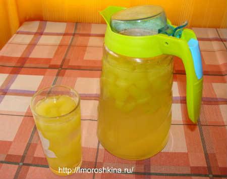Компот из кабачков со вкусом ананаса_ готовое блюдо