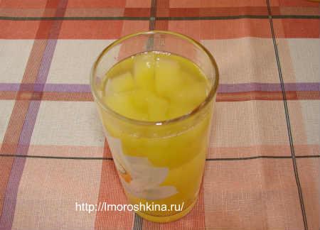 Компот из кабачков со вкусом ананаса_на зиму