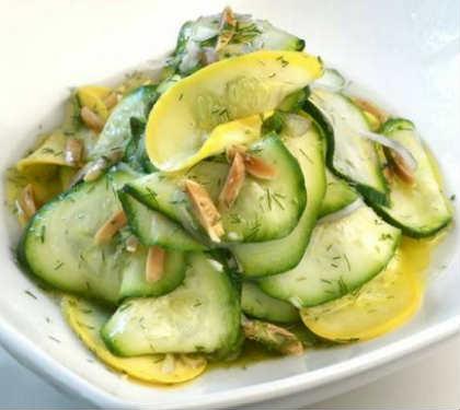 Блюда из кабачков быстрые рецепты_ салат