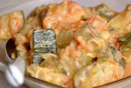 Блюда из кабачков быстрые рецепты_ тушеные в сметане