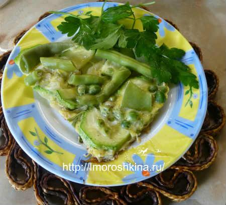 Омлет с кабачками_ готовое блюдо