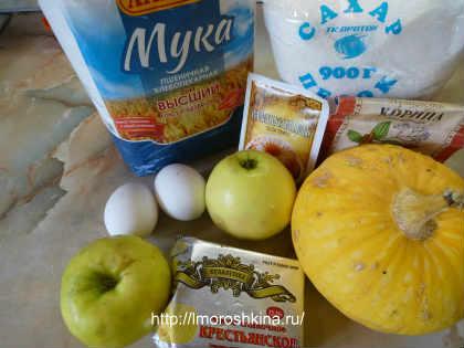 Маффины с тыквой рецепт_ требуемые продукты