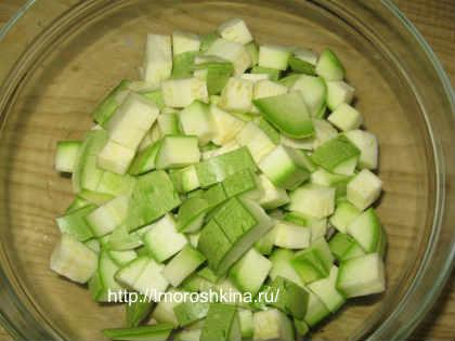 Заморозка кабачков на зиму_ нарезаем кубиками