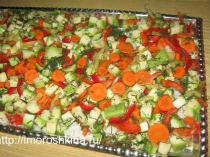 Заморозка кабачков на зиму_помещаем овощную смесь