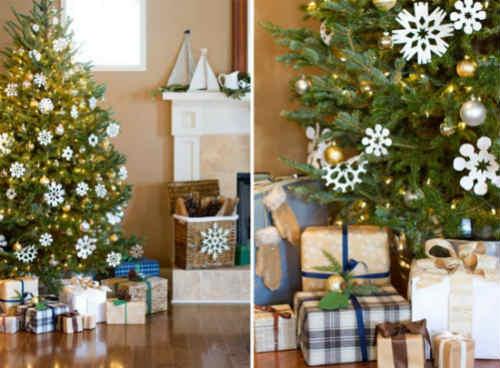 Как украсить елку на Новый год 2016_снежинки