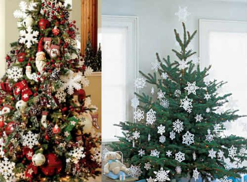 Как украсить елку на Новый год 2016_снежинки своими руками из бумаги