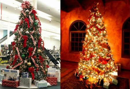 Как украсить елку на Новый год 2016_елка с бантами