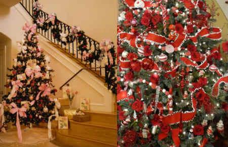Как украсить елку на Новый год 2016_украшение бантами