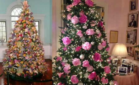 Как украсить елку на Новый год 2016_ цветами