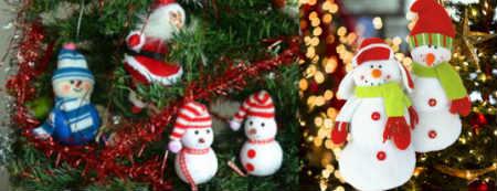 Как украсить елку на Новый год 2016_снеговики