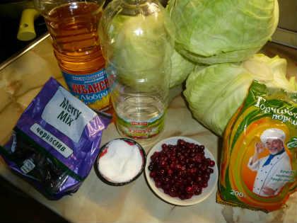 Рецепт маринованной домашней капусты, очень вкусной_продукты для рецепта