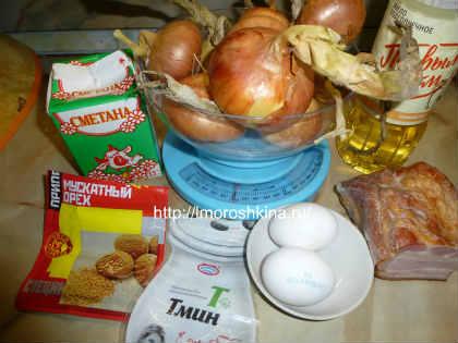 Луковый пирог рецепт с фото_продукты для начинки