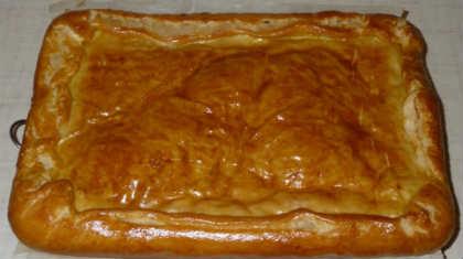 Пирог с луком и сыром_рецепт