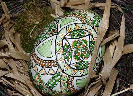 Как покрасить и украсить яйца на Пасху своими руками фото_с узором