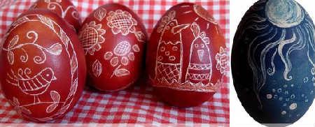 Как покрасить и украсить яйца на Пасху своими руками фото_драпанки