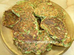 Оладьи с зеленым луком и яйцом на кефире_оладьи на тарелке