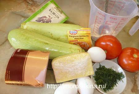 Кабачковая пицца_продукты для приготовления