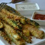 Кабачки с сыром и чесноком в духовке_палочки из кабачков