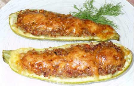 Кабачки в духовке рецепты быстро и вкусно_лодочки