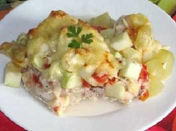 Кабачки в духовке рецепты быстро и вкусно_ с курицей и сыром