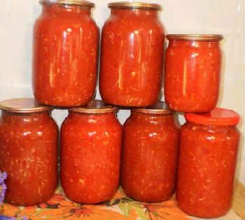 Приготовление аджики в домашних условиях на зиму_с яблоками, помидорами, морковью