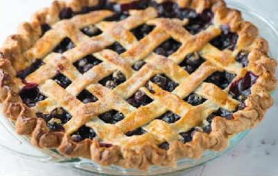 Выпечка с черникой рецепты с фото_открытый пирог
