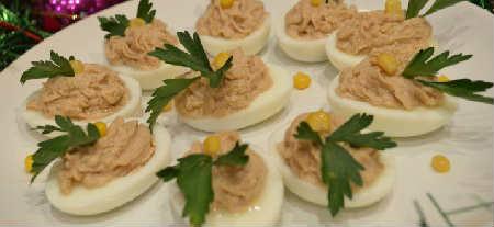 Фаршированные яйца 25 вариантов начинки с фото_с печенью трески