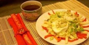 Фаршированные яйца 25 вариантов начинки с фото_с пекинской капустой