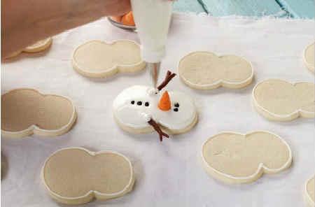 Рецепт имбирного печенья в домашних условиях_украшение снеговик