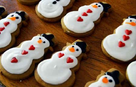 Рецепт имбирного печенья в домашних условиях_снеговик