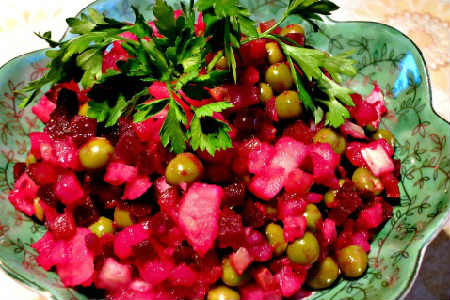 Винегрет самый вкусный рецепт_овощной с зеленью