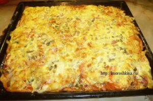 Пицца домашняя рецепт приготовления с фото_приготовленное блюдо