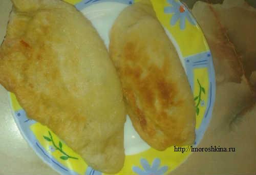 Готовим чебуреки с мясом пошаговый рецепт_готовое блюдо