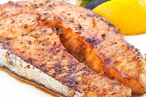 _шашлык из рыбы на мангале