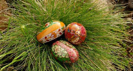 _крашеные яйца