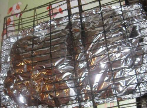 _обжаривание на мангале в фольге скумбрии