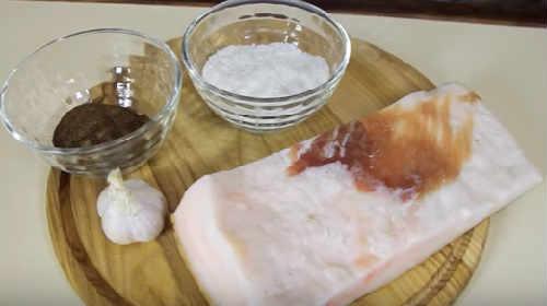 Сало перекрученное с чесноком рецепт