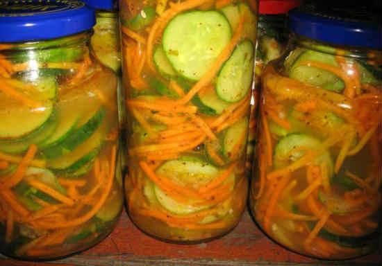 Salat iz ogurcov na zimu bez sterilizacii